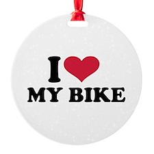 I love my bike Ornament
