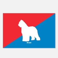 Briard Diagonal Postcards (Package of 8)
