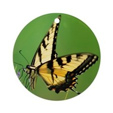 YELLOW BUTTERFLY Ornament (Round)