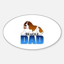 Beagle Dad Oval Decal