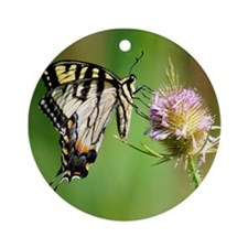 Monarch Butterfly Ornament (Round)