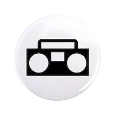 """Radio Music ghettoblaster 3.5"""" Button (100 pack)"""