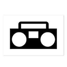 Radio Music ghettoblaster Postcards (Package of 8)