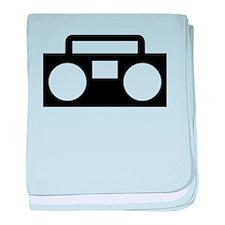 Radio Music ghettoblaster baby blanket