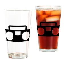 Radio Music ghettoblaster Drinking Glass