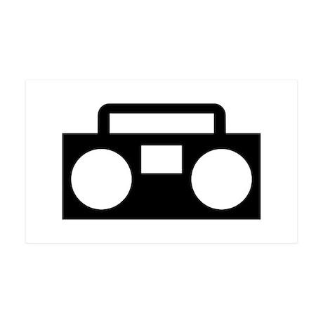 Radio Music ghettoblaster 35x21 Wall Decal