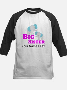 Custom Big Sister Elephant Baseball Jersey