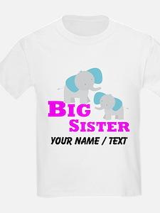 Custom Big Sister Elephant T-Shirt