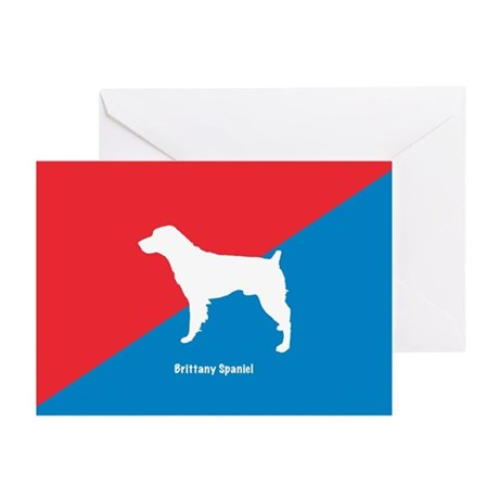 Brittany Diagonal Greeting Cards (Pk of 10)