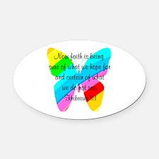 HEBREWS 11:1 Oval Car Magnet