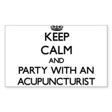 Keep Calm and Party With an Acupuncturist Decal