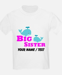 Custom Big Sister Whale T-Shirt