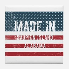 Made in Dauphin Island, Alabama Tile Coaster