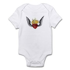 I Love You Winged Heart Infant Bodysuit