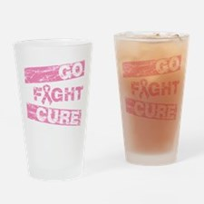 Breast Cancer Go Fight Cure Drinking Glass