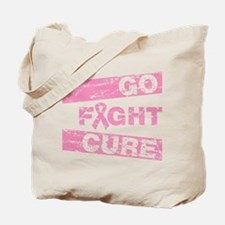 Breast Cancer Go Fight Cure Tote Bag