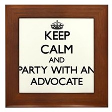 Keep Calm and Party With an Advocate Framed Tile