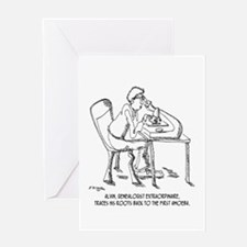 Tracing Your Roots Way Way Back Greeting Card