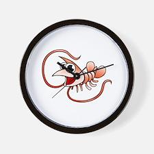 Cartoon Shrimp Wall Clock