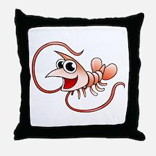 Cartoon Shrimp Throw Pillow