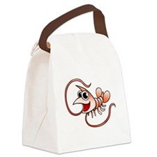 Cartoon Shrimp Canvas Lunch Bag