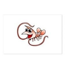 Cartoon Shrimp Postcards (Package of 8)