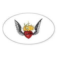 I Love You Winged Heart Vinyl Decal