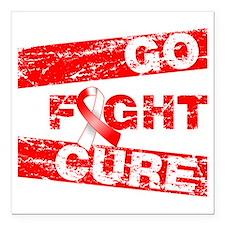 "Aplastic Anemia Go Fight Cure Square Car Magnet 3"""