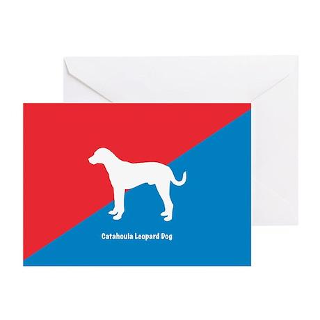 Catahoula Diagonal Greeting Cards (Pk of 10)