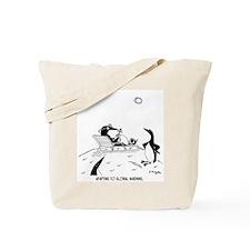 Penguins & Global Warming Tote Bag