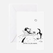 Penguins & Global Warming Greeting Card
