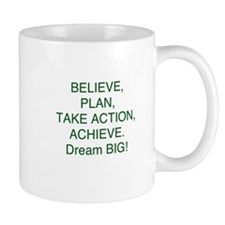 Believe + Plan + Action = Achieve Mugs