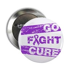 """Alzheimers Disease Go Fight Cure 2.25"""" Button"""