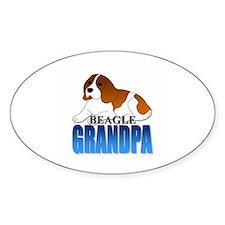 Beagle Grandpa Oval Decal