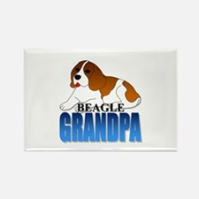 Beagle Grandpa Rectangle Magnet