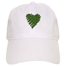 Green Leaves Heart Baseball Cap