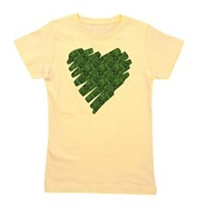 Green Leaves Heart Girl's Tee