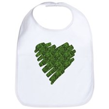 Green Leaves Heart Bib