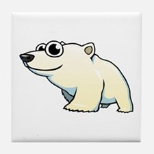 Cartoon Polar Bear Tile Coaster