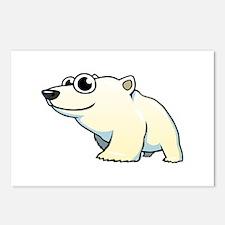 Cartoon Polar Bear Postcards (Package of 8)