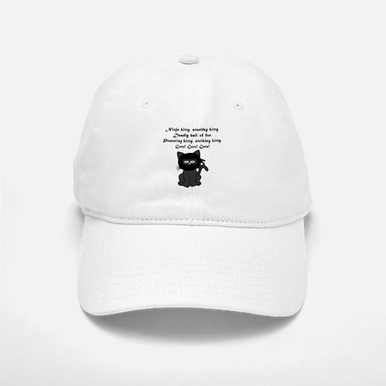 Ninja Kitty Baseball Baseball Cap