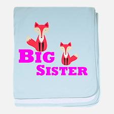 Big Sister Fox baby blanket