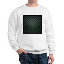 Purple black squares pattern Sweatshirt