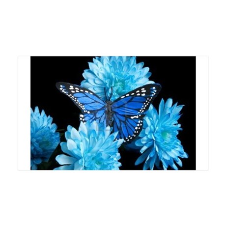 blue carnations Wall Decal