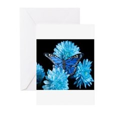 blue carnations Greeting Cards