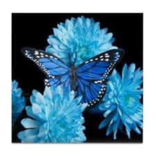 blue carnations Tile Coaster