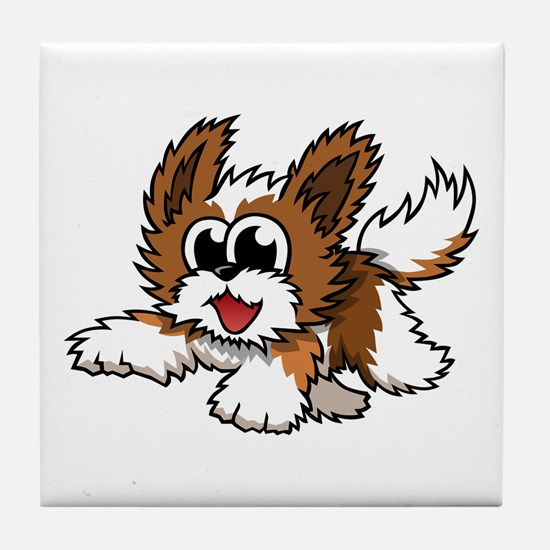 Cartoon Shih Tzu Tile Coaster
