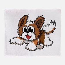 Cartoon Shih Tzu Throw Blanket