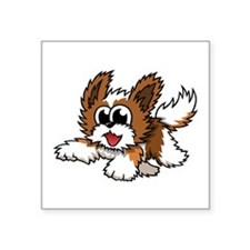 "Cartoon Shih Tzu Square Sticker 3"" x 3"""