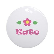"Pink Daisy - ""Kate"" Ornament (Round)"